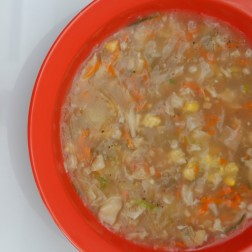SWEET CORN SOUP WITH VEGETABLES
