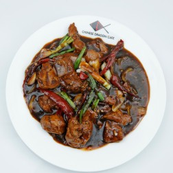 MOCK DUCK IN KUNG PAO SAUCE